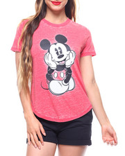 Women - Mickey HiLow Burnout Shirt Tail Tee-2213303