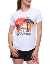 Women - Hakuna Matata Burnout Shirt Tail Tee-2213298