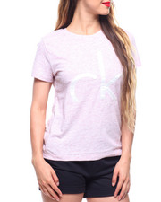 Tops - Bonded Satin Applqiue Tee-2213391