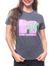 Graphix Gallery - MTV  Burnout Shirt Tail Tee-2213293
