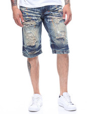 SWITCH - MULTICOLOR PAINT SPLATTER DENIM SHORT