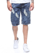 SWITCH - DAMAGED DENIM SHORT