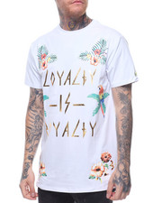 Shirts - FLOWER LOVE EMBROIDERED TEE
