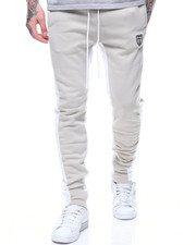 Jeans & Pants - CONTRAST PANEL FLEECE JOGGER-2214748