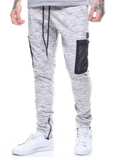 Jeans & Pants - MESH CARGO POCKET FLEECE JOGGER-2214691