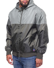 Light Jackets - Color Block Zip Up Rainshell Jacket (B&T)-2215111