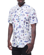 Shirts - GATSBY PRINT SILK COTTON S/S BUTTONDOWN