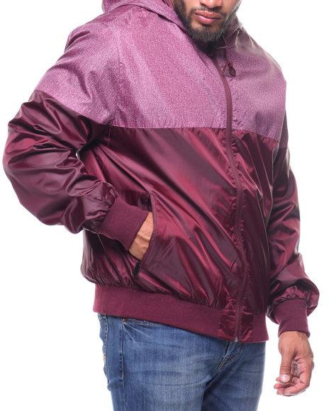 Phat Farm - Color Block Zip Up Rainshell Jacket (B&T)