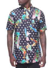 Spring-Summer-M - INSECT PRINT SILK COTTON S/S BUTTONDOWN