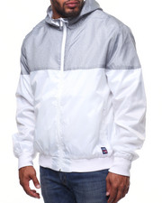 Light Jackets - Color Block Zip Up Rainshell Jacket (B&T)-2215124