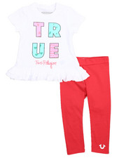 Girls - Ruffle Tee & Leggings Set (2T-4T)