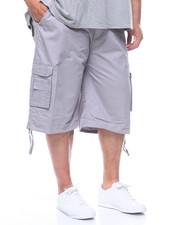 Big & Tall - Washed Cargo Shorts w/ Belt (B&T)