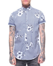 Button-downs - HIBISCUS GINGHAM S/S BUTTONDOWN SHIRT