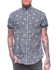 Button-downs - PAPER AIRPLANE GINGHAM S/S BUTTONDOWN SHIRT