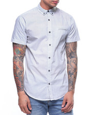 Button-downs - SQUARE PATTERN S/S BUTTONDOWN SHIRT