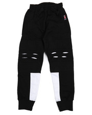 Boys - Solid Color French Terry Moto Jogger Pants (4-7)