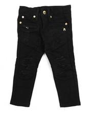 Bottoms - Twill Biker Fit Rip And Tear Jeans (2T-4T)
