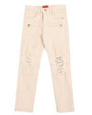 Bottoms - Twill Biker Fit Rip And Tear Jeans  (8-20)-2216863
