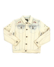 Boys - Embroidery And Stud Jean Jacket (8-20)