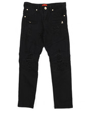 Bottoms - Twill Biker Fit Rip And Tear Jeans (8-20)-2216853