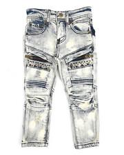 Bottoms - Bike Fit Multi Stud Jeans (2T-4T)