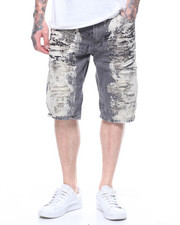 Men - DISTRESSED BLEACHED CUT OFF JEAN SHORT
