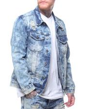 Outerwear - DISTRESSED VINTAGE WASH DENIM JACKET-2217786