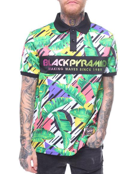 570874e9755 Search. Men Shop by Department Shirts Polos tropical polo shirt. Black  Pyramid - Tropical Polo Shirt