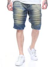 Shorts - BLUE TINT MOTO DENIM SHORT W ZIP DETAIL-2217769