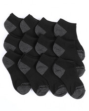 Accessories - Pro Player 12 PK Boys Non Terry Low Cut Socks (7-8.5)-2214646