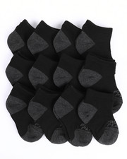 Accessories - Pro Player 12 PK Boys Non Terry Low Cut Socks (5-6.5)-2214661