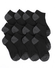 Accessories - Pro Player 12 PK Boys Non Terry Low Cut Socks (9-11)-2214536