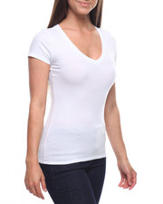 Tees - S/S V Neck T-shirt-2215860