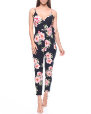 Women - Floral Tie Waist Surplus Jumpsuit-2217852