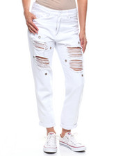 Women - High Rise Destroyed Studded Boyfriend Jean-2216081