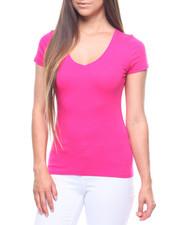 Tees - S/S V Neck T-shirt-2215876