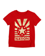 T-Shirts - Crimson Red Foil Graphic Tee (2T-4T)-2216192