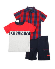 Sets - Beatstreet 3 Piece Woven Shirt Set (4-7)