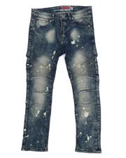 Jeans - Vintage Blue Moto Jeans (8-20)-2215701