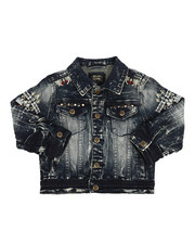 Outerwear - Embroidery And Stud Jean Jacket (4-7)-2216941