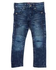 Bottoms - Deep Blue Moto Denim Jean (2T-4T)