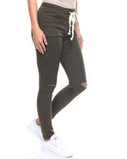 Bottoms - Slit Knee Twill Jogger-2215655