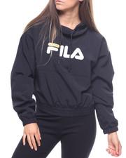 Sweatshirts - Elsie Crinkled Taslon Funnel Neck Top-2215880