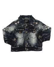Outerwear - Embroidery And Stud Jean Jacket (2T-4T)-2216931