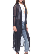 Long-Sleeve - L/S Mesh Cascade Front Duster-2217812