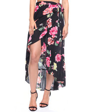 Women - Floral Wrap Skirt Tie Waist-2215570