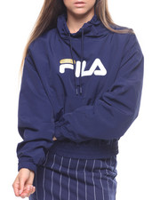 Fila - Elsie Crinkled Taslon Funnel Neck Top-2215884