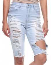 Women - Destructed Denim Bermuda-2215896