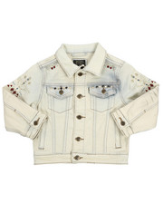 Outerwear - Embroidery And Stud Jean Jacket (4-7)-2216945