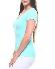 Tops - S/S V Neck T-shirt-2215872